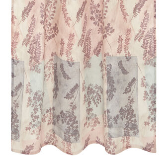 Curtain with ramage print and hidden tabs