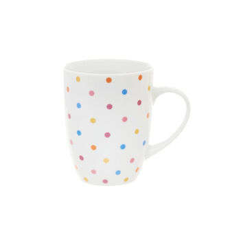 Polka dot porcelain mug