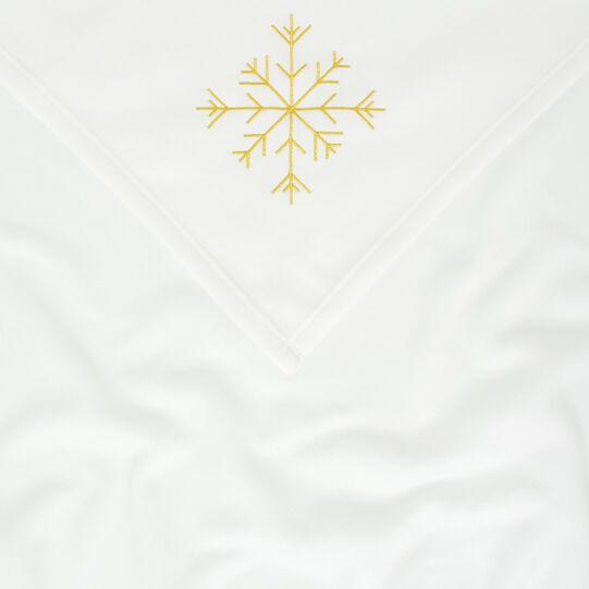 Embroidered fleece throw
