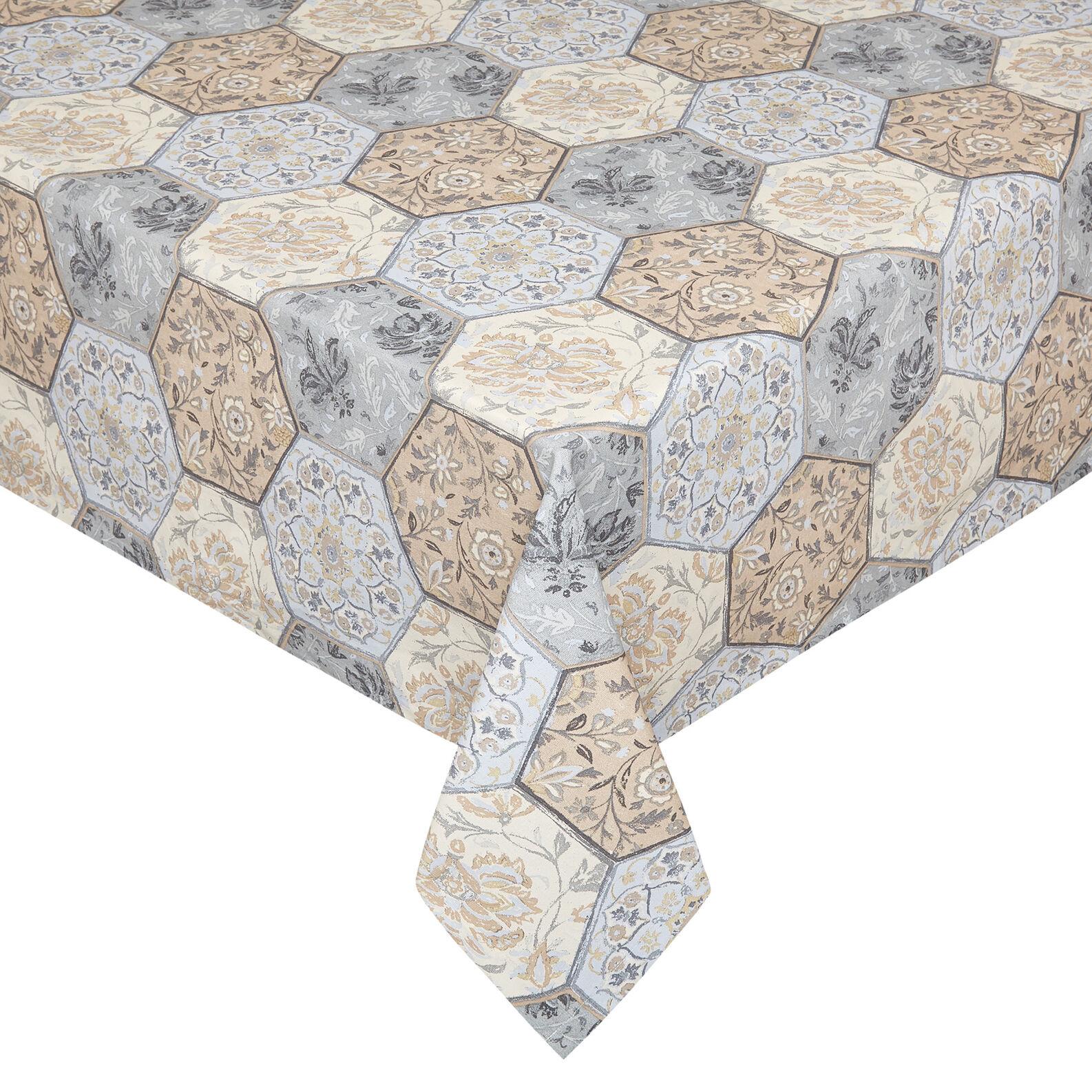 Tovaglia puro cotone stampa mosaico
