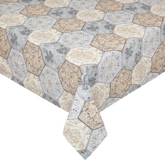 100% cotton water-repellent tablecloth with mosaic print