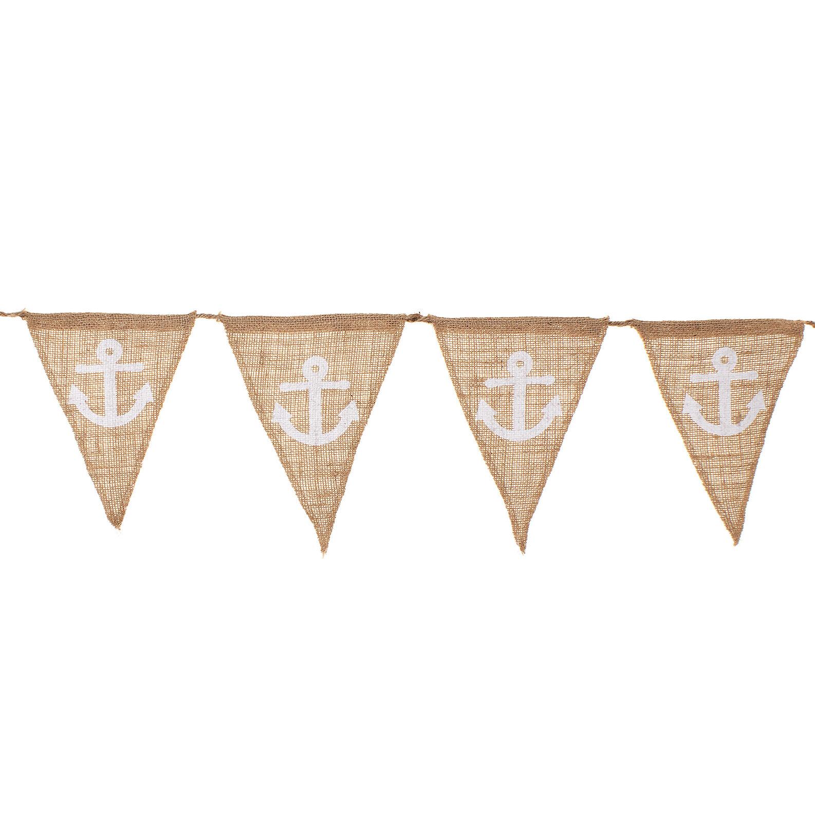 Small decorative jute flags