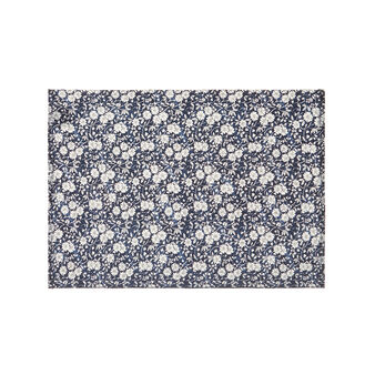 Floral table mat in 100% cotton