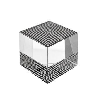Cubo fermacarte in vetro