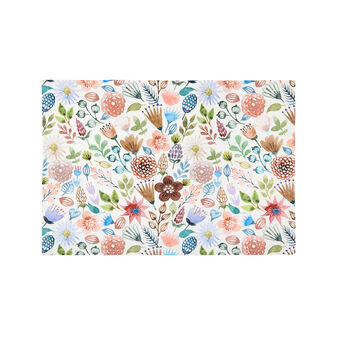 Table mat in cotton twill with flowers print