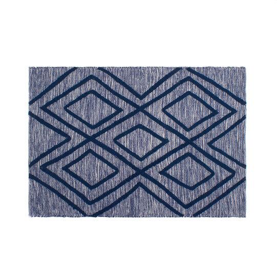 Tappeto bagno cotone tuftato geometrico
