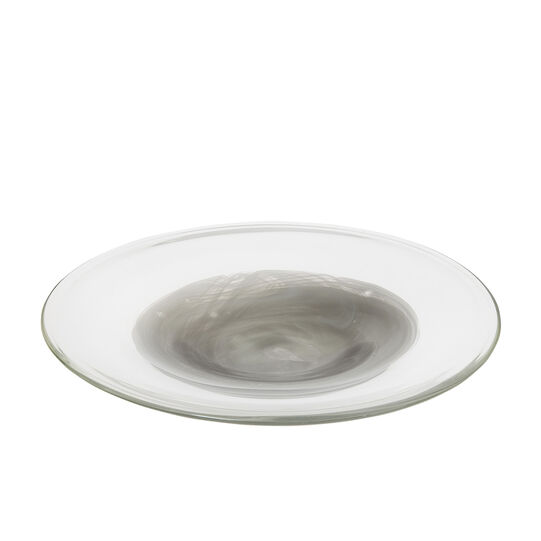Coloured glass decorative plate