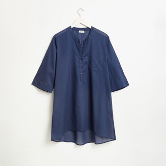 Plain light cotton cover-up