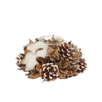 Centrotavola 1 luce fiori di cotone