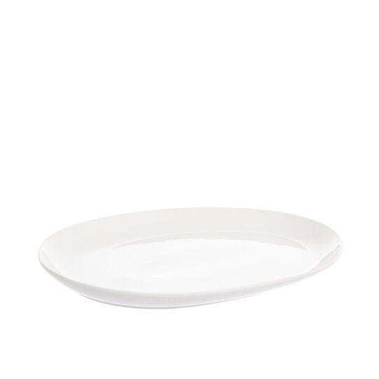 Piatto ovale porcellana bianca