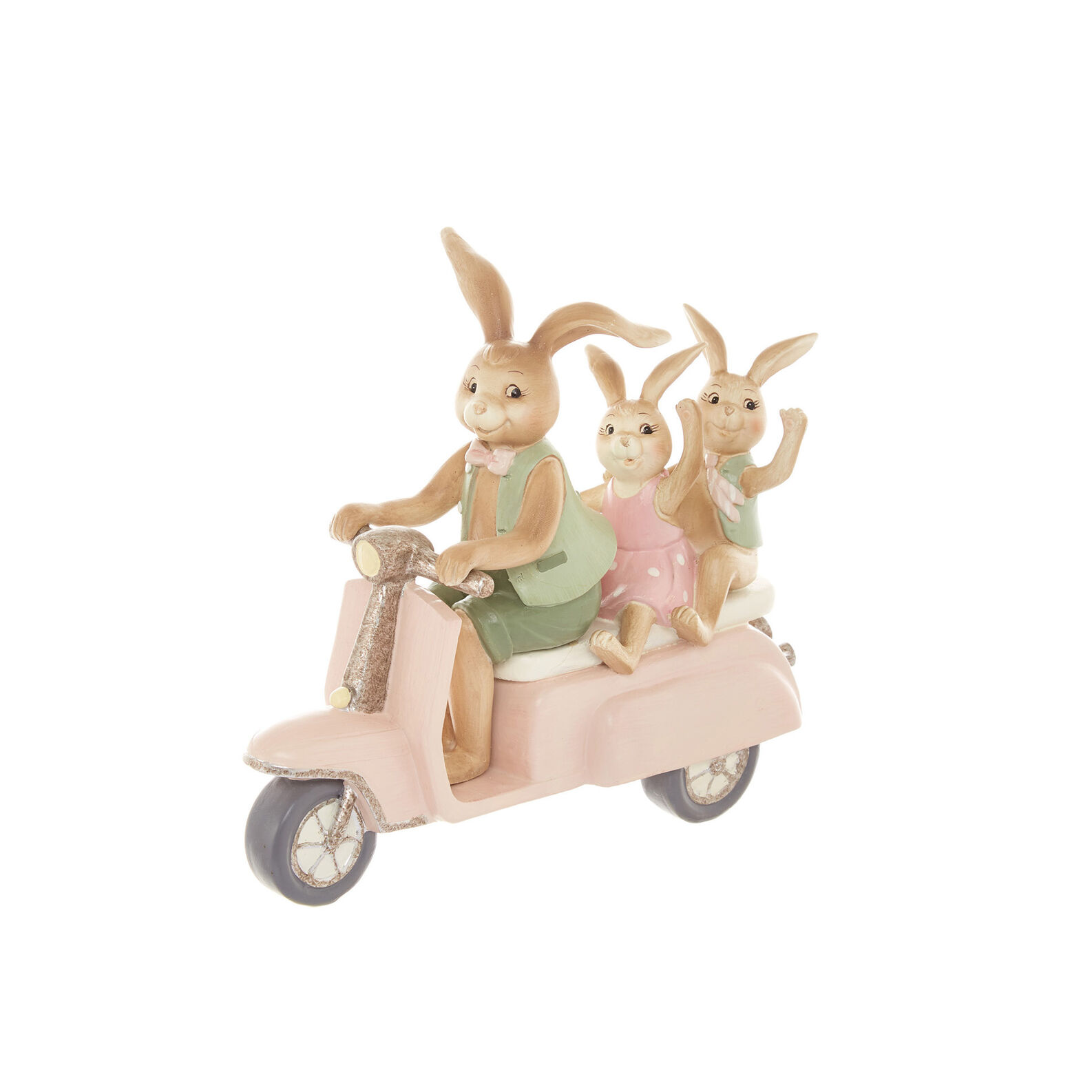 Hand-finished rabbits on Vespa
