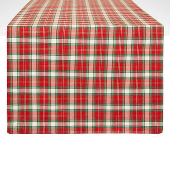 Cotton blend table runner with lurex