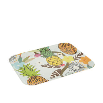 Bamboo tray with pineapple motif