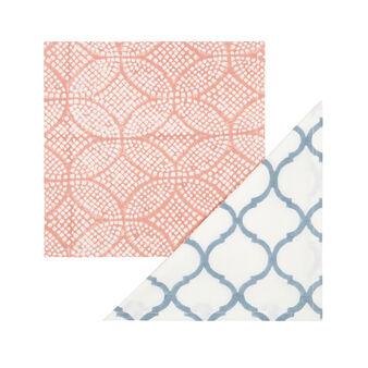 Set 2 tovaglioli puro cotone stampati a mano