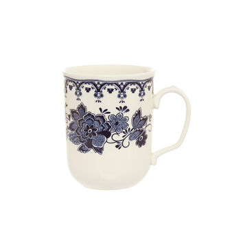 Ceramic mug with floral decoration