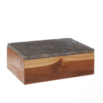 Handmade marble and wood box