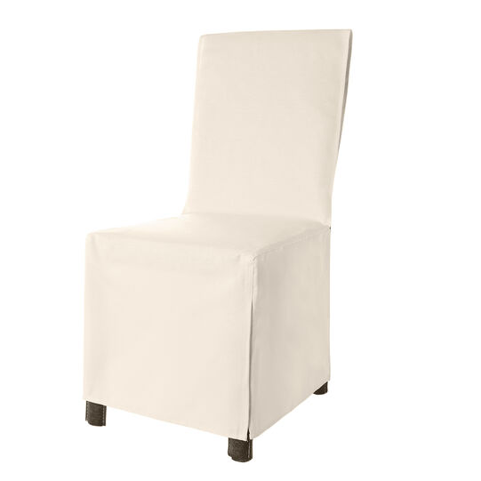 Set of 2 solid colour cotton chair covers