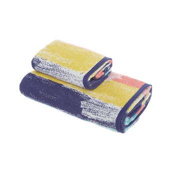 Asciugamano spugna di cotone fantasia pennellate