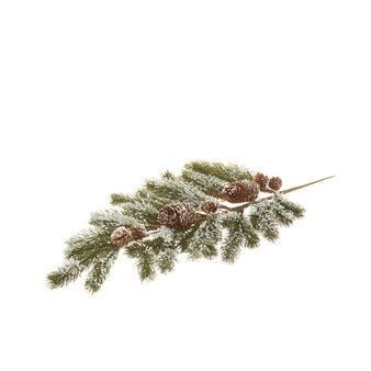 Decorative pine branch with pine cones