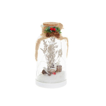 Bottiglia con renna a LED