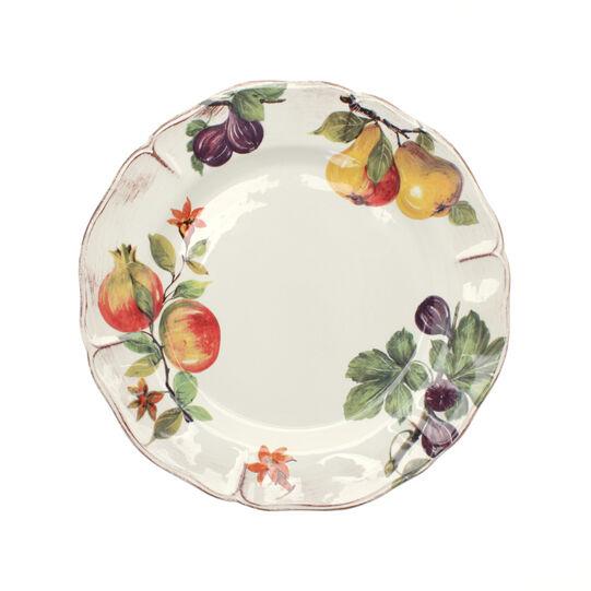 Grenade painted ceramic serving platter