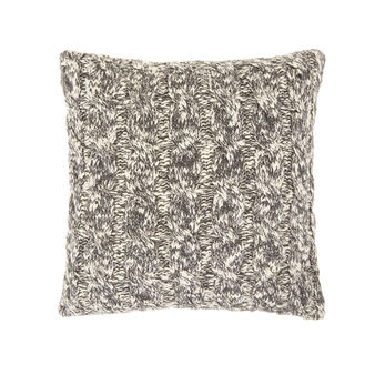 Cotton cable knit cushion