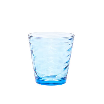 Light blue drinking glass