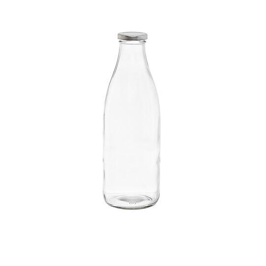 Bottiglia latte vetro trasparente