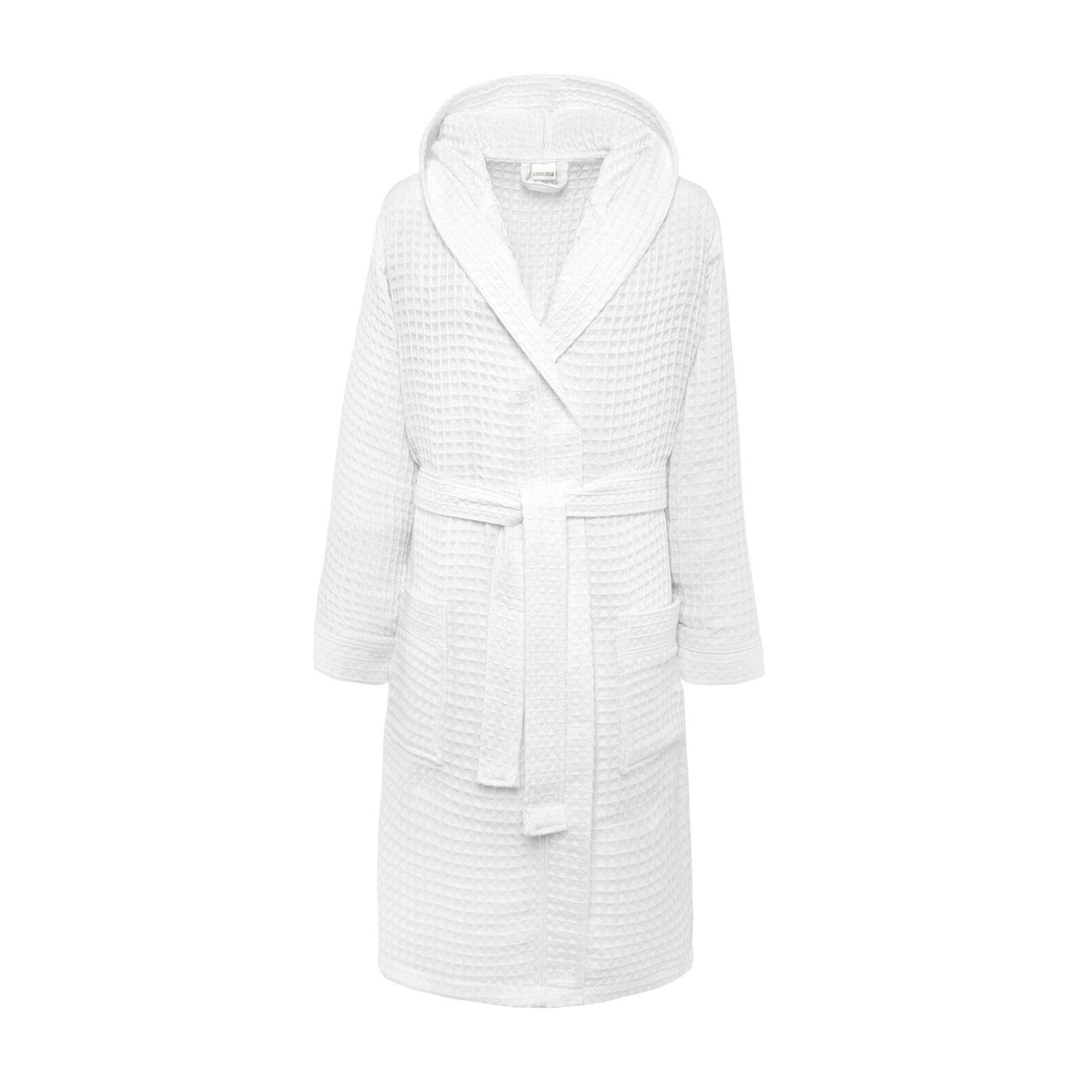 Honeycomb bathrobe in pure cotton