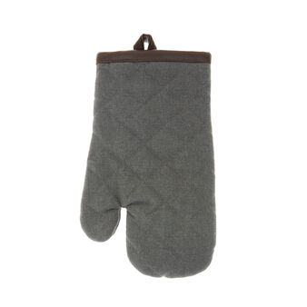 100% stonewashed cotton kitchen glove with pleather trim