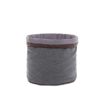 Stonewashed cotton storage basket