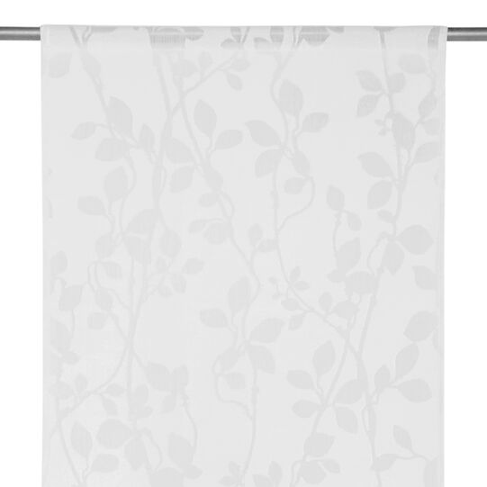 Curtain devore floral pattern