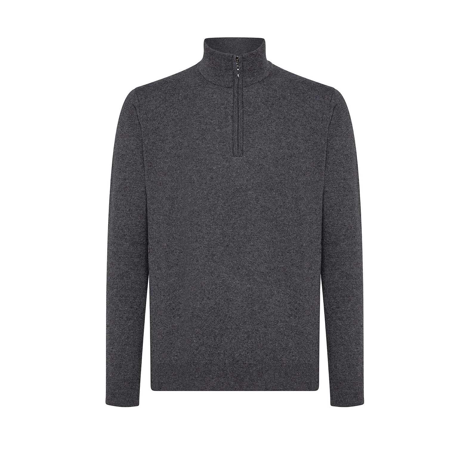 Cashmere blend pullover with high neck