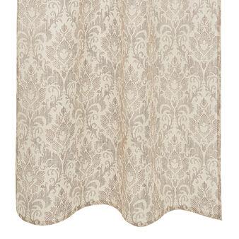 Damask print curtain