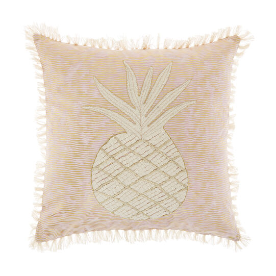 Cushion with pineapple embroidery
