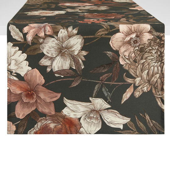 100% cotton European table runner with floral print