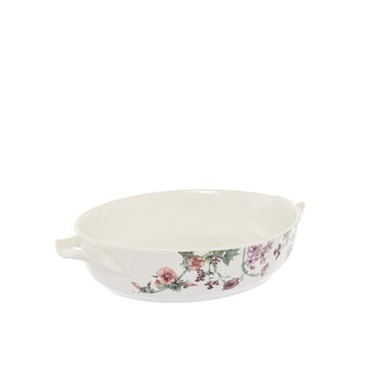 Pirofila in new bone china decoro floreale