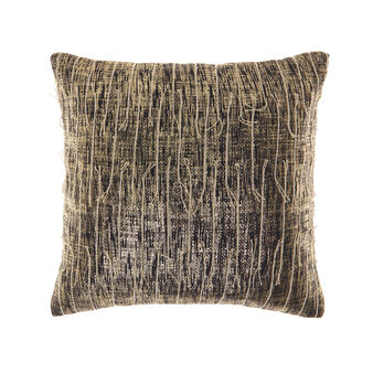 Gold-coated cushion in 100% cotton