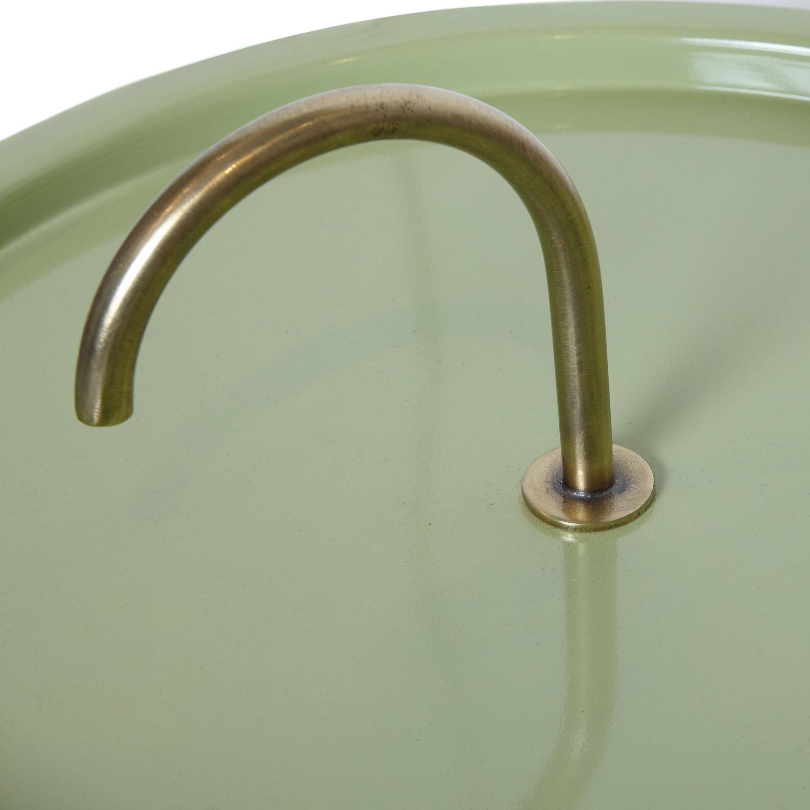 Tavolino acciaio con gancio Hook