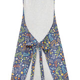 Cotton twill kitchen apron with flowers print