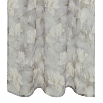 Curtain with magnolia flower print and concealed loops