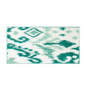 Tappeto bagno stampa astratta retro gommato