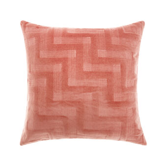 Velvet geometric cushion 45x45cm