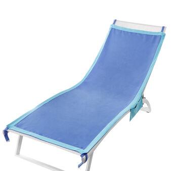 Single colour microfibre beach towel with pockets