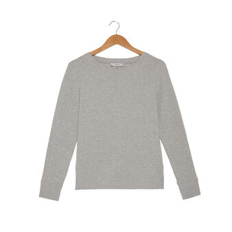 Cotton mélange sweatshirt