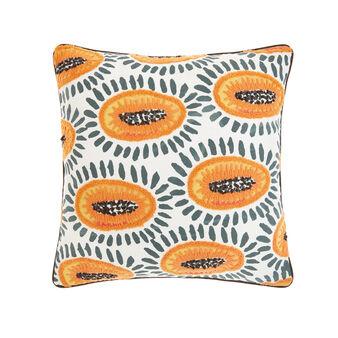 Cuscino decoro papaia 45x45cm