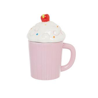 Cupcake-shaped ceramic mug