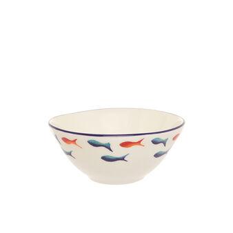 Coppetta ceramica decoro pesci