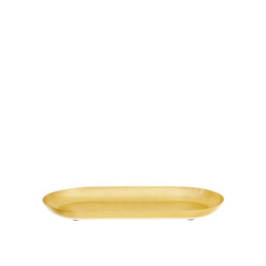 Vassoio ovale in metallo satinato