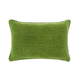 Velvet and viscose woven cushion (35x55cm)